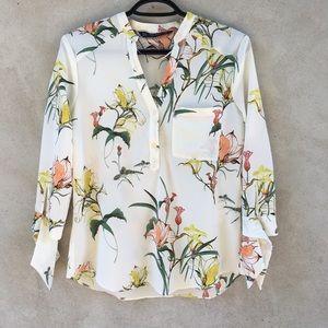 New Zara Flower Print Blouse